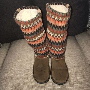 EUC Keen Auburn Navajo Knit Slouch Boot Size 9.